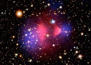 Участок скопления галактик