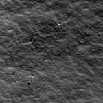 Движение камней на поверхности Луны