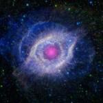 Глаз в туманности Спираль становится голубым