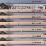 Видео с камеры наружного наблюдения – падение метеорита в озеро Чебаркуль