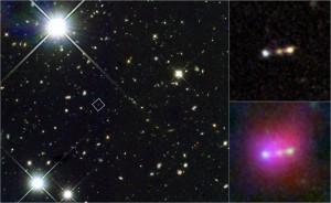 Как сливались галактики в начале рассвета космической эры