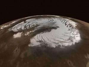 Северный полюс Марса предстает перед нами в новой красе