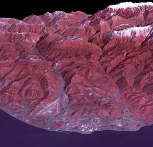 Снимок Олимпийских игр в Сочи из космоса