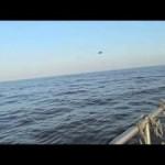НЛО уходит под воду