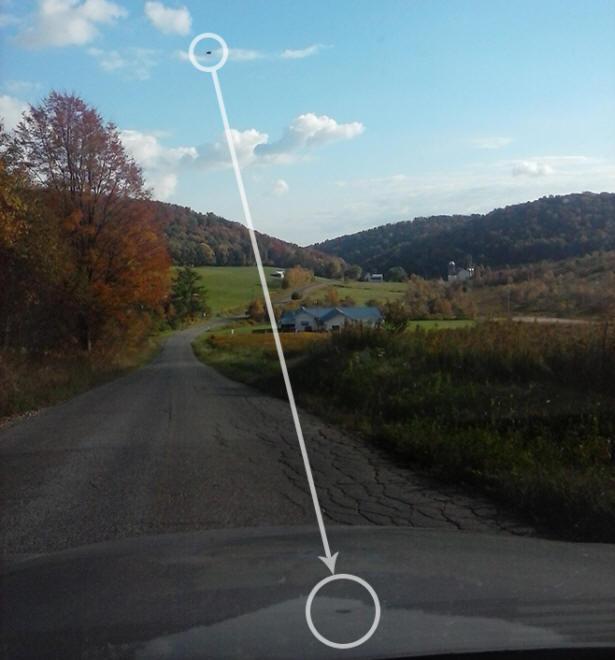 Жительница Америки сфотографировала НЛО над дорогой