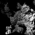 Первый снимок с поверхности кометы 67P/Чурюмова-Герасименко