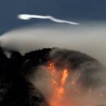 НЛО над вулканом Попокатепетль в Мексике