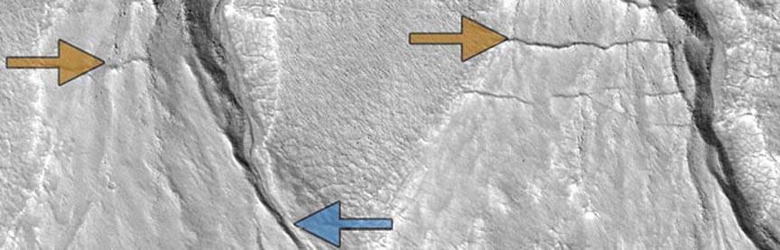 На Марсе овраги указывают на наличие климатических циклов