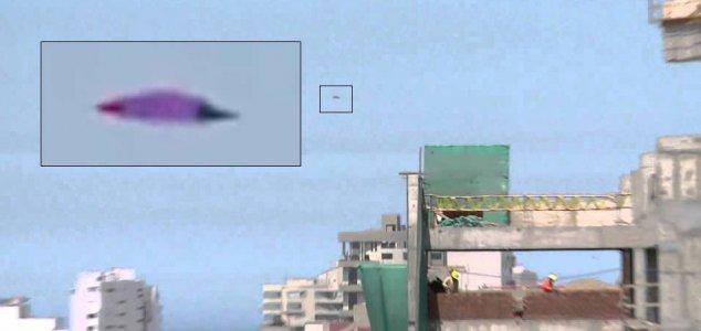 Фиолетовый НЛО прервал телевизионный репортаж в Перу
