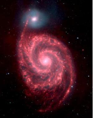Ученые сделали снимок слияния галактик в инфракрасном диапазоне