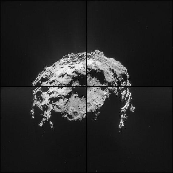 Первые снимки кометы 67P/Чурюмова-Герасименко были получены от космического аппарата Розетты