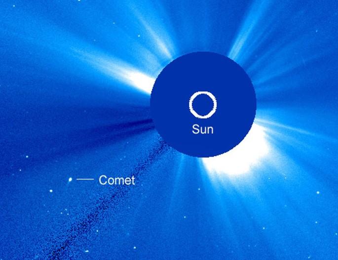 Найдена новая необычная комета SOHO-2875