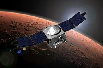 Космический аппарат MAVEN совершил погружение в атмосферу Марса
