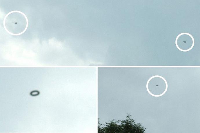 НЛО преследует вертолет