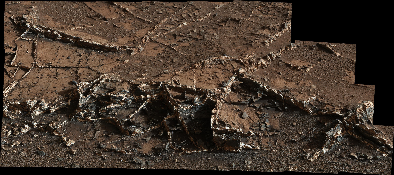 На Марсе обнаружены минеральные жилы