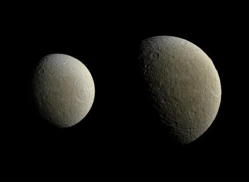 Космический аппарат Кассини сделал снимок спутника Реи