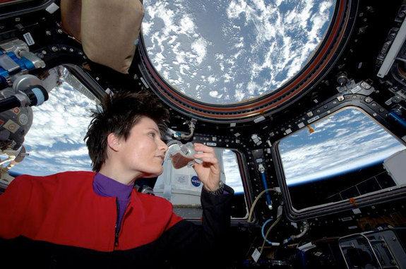 Космонавты на МКС приготовили первую чашку натурального кофе
