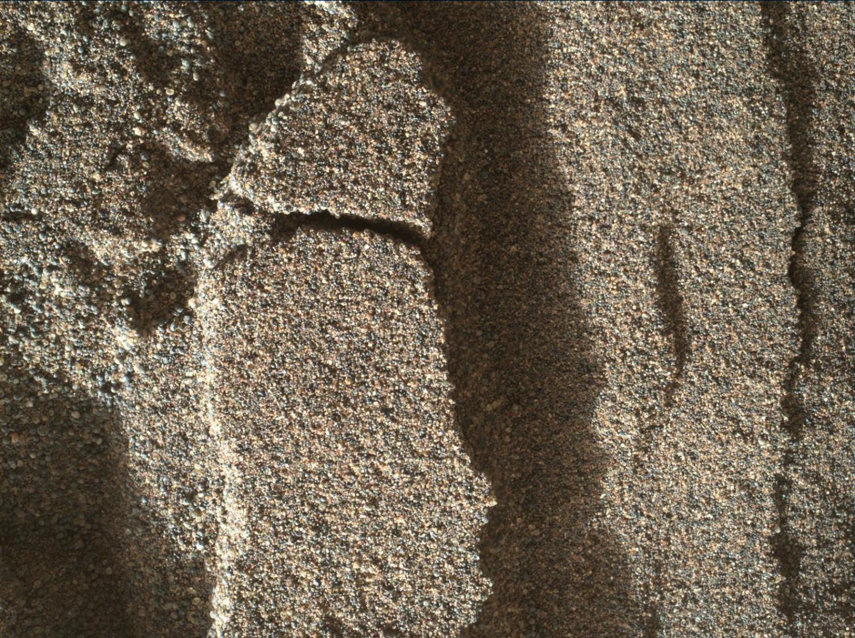 Снимок песчаных дюн на Марсе