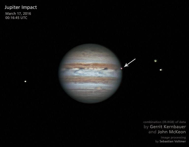 Юпитер подвергается бомбардировкам астероидов в среднем 6,5 раз в год